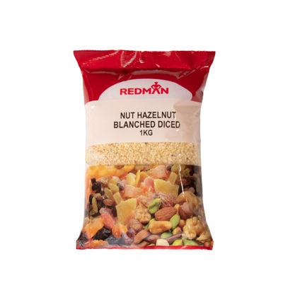 REDMAN NUT HAZELNUT BLANCHED DICED 1KG
