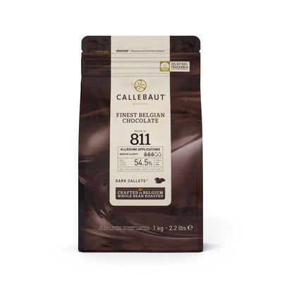 CALLEBAUT DARK CHOCOLATE COUVERTURE 54.5% 1KG