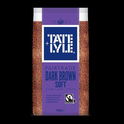 TATE & LYLE SUGAR BROWN DARK SOFT/TATE LYLE (BOXX10PACX500G)