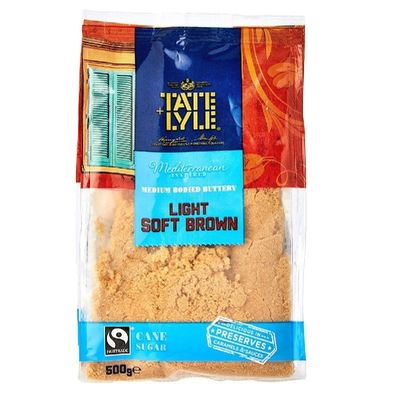 TATE & LYLE SUGAR BROWN LIGHT SOFT/TATE LYLE (BOXX10PACX500G)