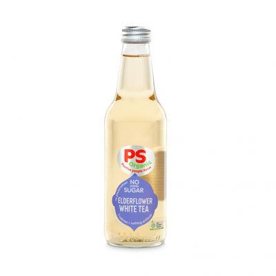 PS ORGANIC WHITE TEA WITH ELDERFLOWER NO SUGAR 330ML