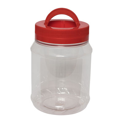 NCI ROUND PET BOTTLE RED CAP WITH HANDLE 1.4L 4018