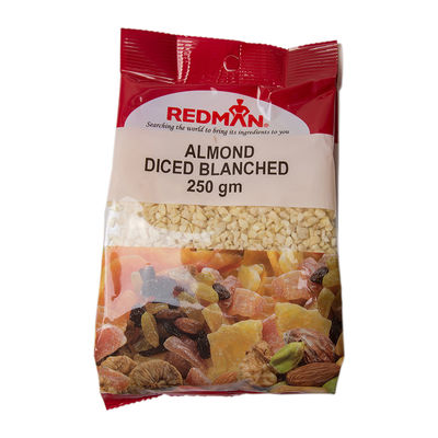 REDMAN BLANCHED DICED ALMOND  250G