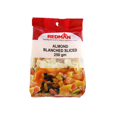 REDMAN BLANCHED ALMOND SLICED 250G