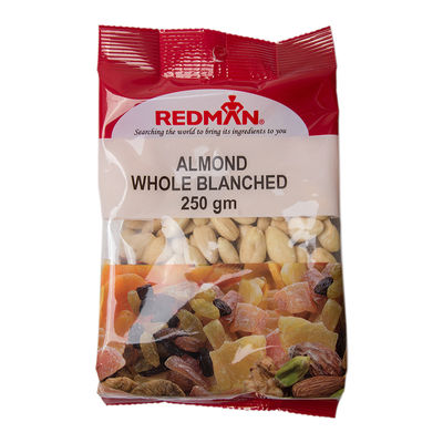 REDMAN BLANCHED WHOLE ALMOND NUT 250G