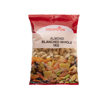 REDMAN BLANCHED WHOLE ALMOND NUT 1KG