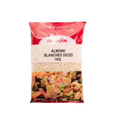 REDMAN BLANCHED DICED ALMOND  1KG