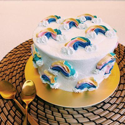 0725 Rainbow Lychee Cake