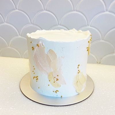 1003 Watercolor Abstract Aesthetic Cake