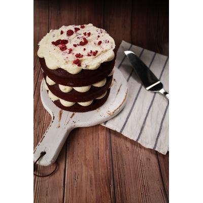0806 Red Velvet Naked Cake + Soya Linseed Artisan Bread