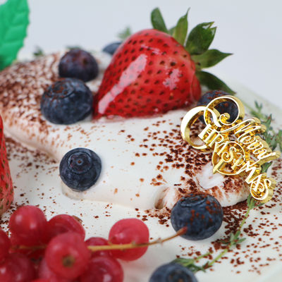 1207 Christmas Fresh Cream Cake