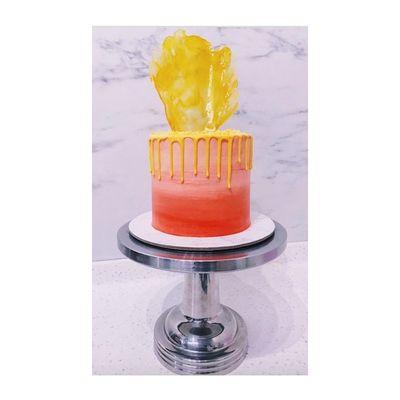 0607 Watercolour Drip Cake