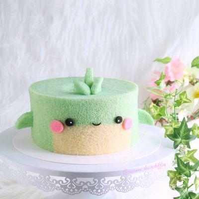 0807 Baby Whale Chiffon Cake