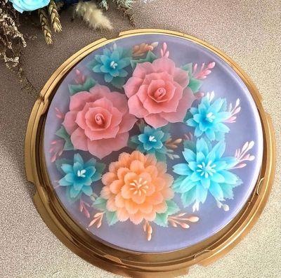 0920 3D Floral Jelly Cake - Basic