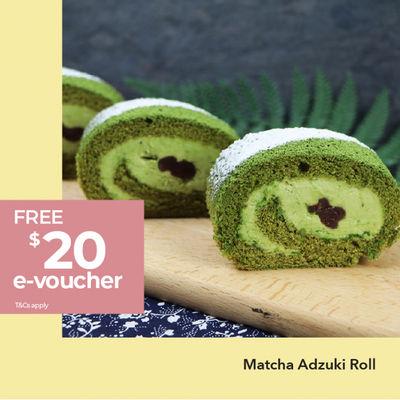 0622 Matcha Adzuki Roll & Cookies