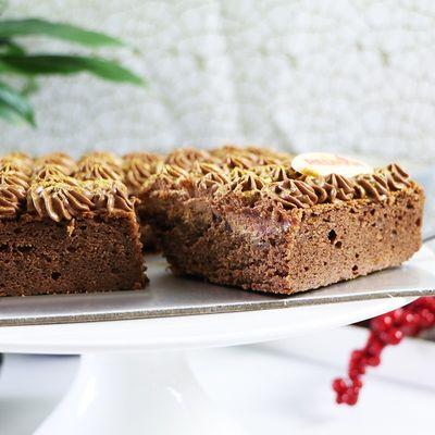 Chocolate Brownies with Chocolate Ganache Recipe