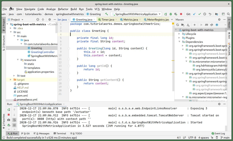 Screenshot of IntelliJ IDEA