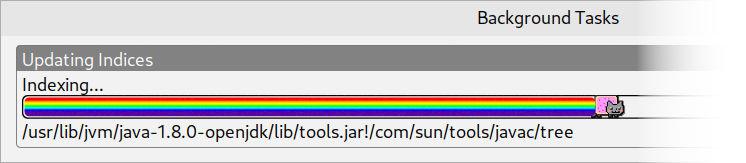 Nyan Progress Bar in IntelliJ IDEA