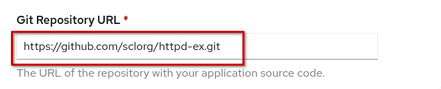 Git Repository URL field in OpenShift Template