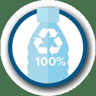 Botol 100% dapat didaur ulang kembali sehingga ramah lingkungan