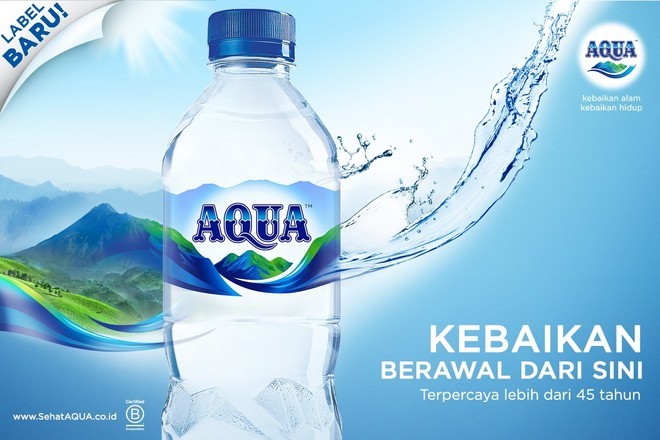 Kisah Kemurnian Air di Balik Label & Logo Terbaru AQUA