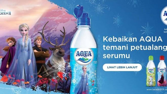 Luncurkan Kemasan Label Frozen 2, AQUA Ajak Anak Sadar Arti Penting Air Minum Terbaik