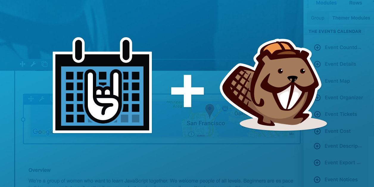 Beaver Themer Integrates with The Events Calendar