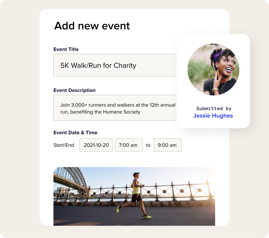 Empower users to submit events