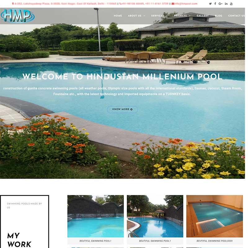 Wordpress CMS Website hmpool