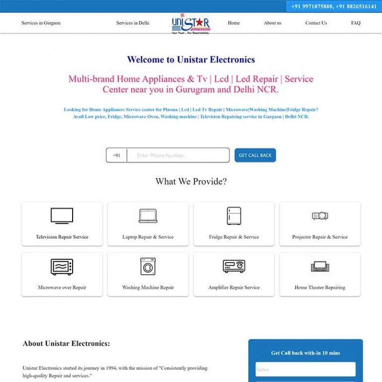 PHP Website  – unistarelectronics