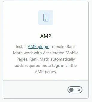 Rank Math Module AMP