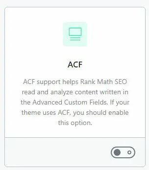 Rank math pada module ACF