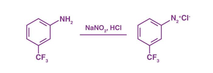 Diazotization reaction