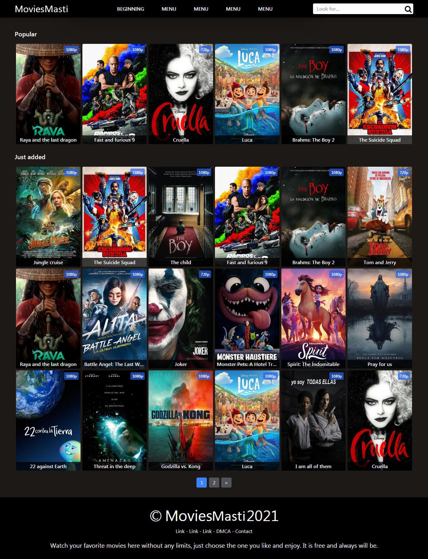 Movies Masti Blogger Template