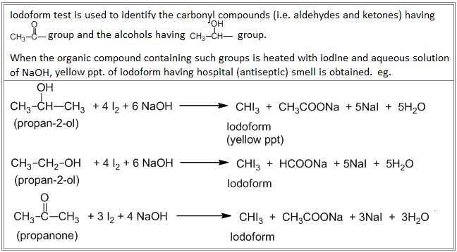 Iodoform test