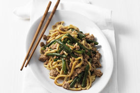 Hokkien Noodles with Pork and Snake Beans