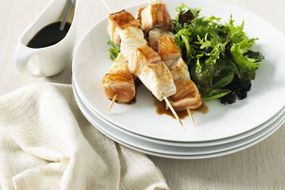 Marinated Ling and Salmon Skewers