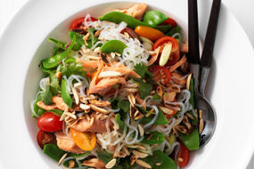 Smoked Trout and Snow Pea Noodle Salad