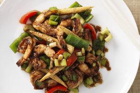 Stir Fried Prawns and Vegetables with Hoisin