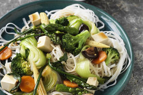 Vegetable and Tofu Stir Fry in Oyster Sauce