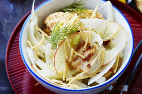 Coconut Chicken with Apple and Fennel Slaw