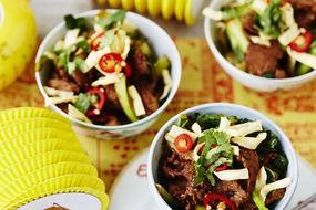 Lime and Lemongrass Beef Noodle Salad