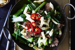 Sesame Lime Beef and Noodle Salad