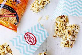 Crunchy Salted Caramel Coated Popcorn Bars