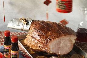 Hoisin Glazed Christmas Ham