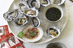Oysters with three dressings