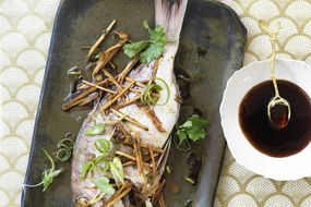 Steamed Whole Fish with Ginger and Soy