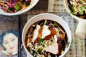 Chinese Master Stock Braised Turkey and Asian Slaw
