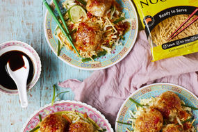 Thai Fish Cakes with Crunchy Asian Slaw