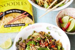 Peppered Beef and Crispy Noodles stir fry